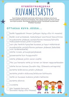 Ryhmädynamiikkaa Kuvametsästys - Viitottu Rakkaus Leader In Me, Education Logo, Early Childhood Education, Teacher Pay Teachers, Social Skills, Special Education, Art School, Teaching Kids, Classroom