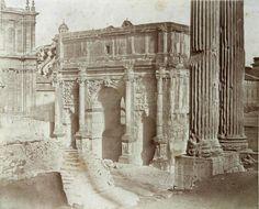 Roma, Arch of Settimio Severo 1850 (ca)
