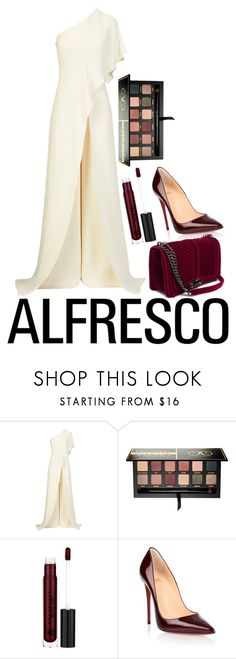 """#Alfresco"" by ethenknowsfashion on Polyvore featuring Anastasia Beverly Hills and Christian Louboutin"