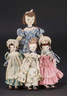 Four Edith Flack Ackley Dolls
