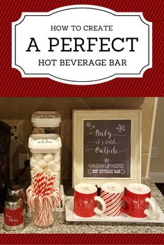 Get ready to make the perfect hot beverage bar for your from. http://chichomeaccents.com/create-perfect-hot-beverage-bar/