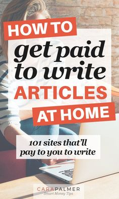 101 Sites That Pay You To Write - - Do you want to get paid to write articles at home? If so, you've come to the right place. Working from home and getting paid to write is a dream job. Online Writing Jobs, Freelance Writing Jobs, Online Jobs, Make Money Blogging, Make Money From Home, Way To Make Money, Online Surveys For Money, Earn Money Online, Article Writing