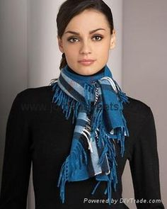 Blue/ Black/ White scarf