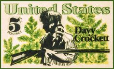 The Day Crockett Stamp Painting