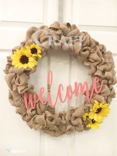 """Handcrafted ready made burlap wreath. Wreath is constructed on an 18"""" wire frame and 20-25 yards of burlap ribbon for lots of fullness. This item is ready for pickup or shipping. Options available as"""