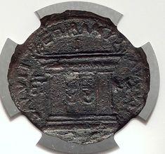 DOMITIAN with Judaea Herodian King AGRIPPA II 85AD Ancient Roman Coin NGC i66647