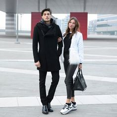 Complimentary contrasts go for love and shoes. Valentina Fradegrada shows off a black and white mood with her #HOGAN H222 Maxi Platform #sneaker with Alessandro Dellisola in his Route H217 Join the #HoganClub #lifestyle and share with us your @hoganbrand pictures on Instagram