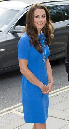 Kate - Stella McCartney Blue Dress National Portrait Gallery 19 July 2012