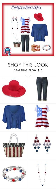 """""""Independence Day BBQ and Celebration"""" by audkoppe on Polyvore featuring Simply Vera, WearAll, Cappelli Straworld and Kim Rogers"""