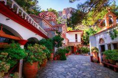The Beautiful Agios Georgios Selinari Monastery near Malia, Crete, Greece | Flickr - Photo Sharing!