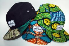 cewax.fr aime cette casquette en tissu africain wax style ethnique afro tendance tribale african print ankara African printed caps by Henry Rude. http://henryrude.com