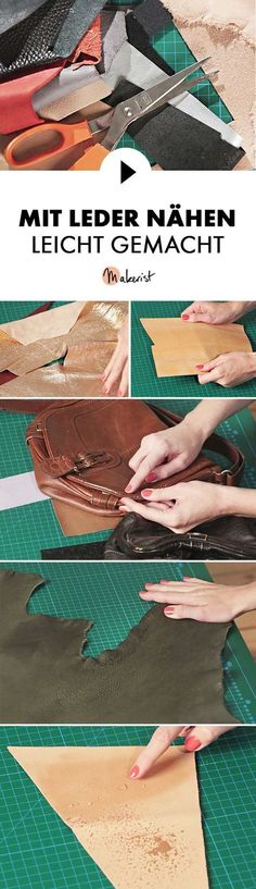 Tipps zum Nähen mit Leder - Nähtipps via Makerist.de
