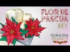 Flor de Pascua o Nochebuena de fieltro, ideas para decorar en navidad, manualidades faciles - YouTube