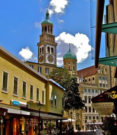 All this is Germany. (Including some things from Austria and Switzerland, because it sometimes goes hand in hand. Augsburg Germany, Beau Site, Beautiful Places, Amazing Places, Old City, Bavaria, Beautiful Landscapes, Travel Europe, Travel Destinations
