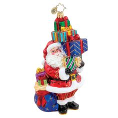 Image detail for -Christopher Radko Ornaments > Tip Top Claus