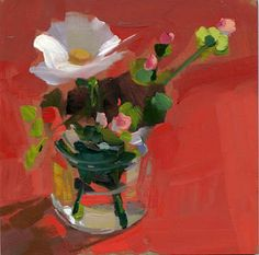 Forward, painting by artist Lisa Daria Kennedy Painting Still Life, Still Life Art, Paintings I Love, Small Paintings, Art Floral, Still Life Flowers, Art And Illustration, Abstract Flowers, Love Art