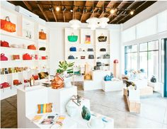 Love this interior! The simplistic design really highlights the merchandise.  clare vivier . la #retail