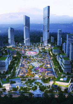 Futuristic City, Futuristic Architecture, Concept Architecture, Landscape Architecture, Environment Concept Art, Environment Design, Built Environment, Landscape Concept, Landscape Design