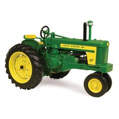 Take a step back to the 1950's with the John Deere 70 Diesel. Replica features front weights, rotating belt pulley, fender and tail lights, authentic style drawbar hitch with hammer strap, and separat