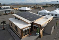 PV arrays for Missouri University of Science and Technology at the U.S. Department of Energy Solar Decathlon 2015 at the Orange County Great Park, Irvine, California (Credit: Thomas Kelsey/U.S. Department of Energy Solar Decathlon)