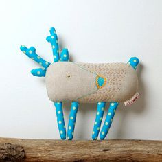 Deer. Designer hand-embroidered toy, Stuffed animal, Animal Toy, Deer Toy, children