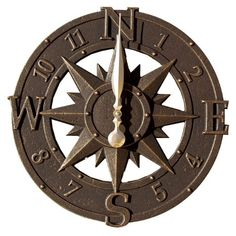 16 Inch Compass Rose Outdoor Wall Clock Brookstone Http://www.amazon