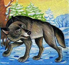 Волку не страшны морозы — у него прекрасная шуба, которая к зиме становится ещё пушистее. Alphabet Templates, Online Art Classes, Animal Puzzle, Animal Projects, Illustrations, Animal Paintings, Habitats, Cute Pictures, Woodland