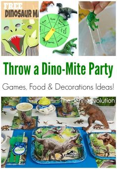 Dinosaur Party Birthday Games, Decorations & Food -- the perfect Jurassic World Party!