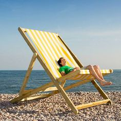 Giant Yellow And White Deckchair Huge On The Beach Hire From Www