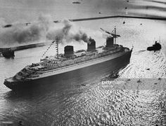 France, SS Normandie , French ocean liner, date unknown, 1930ies, photo by Weltbild