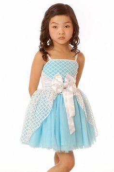 Ooh! La, La! Couture Resort White/Aqua Jenna Dress