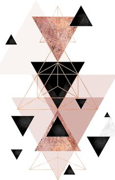 Abstract geometric triangle design in pink blush, black and rose gold. Iphone 7 Plus Wallpaper, Rose Gold Wallpaper, Wallpaper Images Hd, Iphone 7 Wallpapers, Iphone Background Wallpaper, Pastel Wallpaper, Cute Wallpapers, Black Wallpaper, Mobile Wallpaper