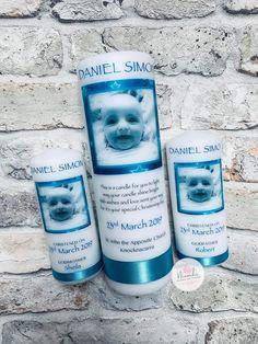Personalised boy Christening candle set, Irish Christening, baptism candle, naming day candle, christening, galway, baby christening, baby candle, custom candle