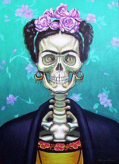 Frida Kalho - El Dia de los Muertos (Homage a Loulou de la Falaise)
