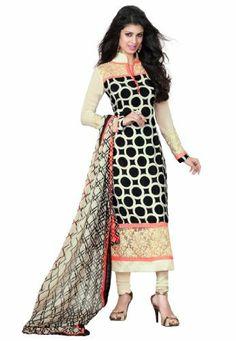 Stylish Indian Designer Wear Black & Cream Embroidery Saree Fabdeal, http://www.amazon.de/dp/B00H9D6TZQ/ref=cm_sw_r_pi_dp_vU9otb1DQCYS6