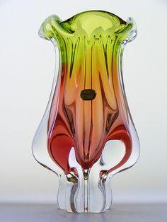 Chribska glass vase