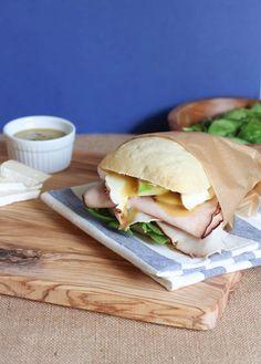 Turkey, Brie and Honey Mustard Tarragon Sandwich | Spoonful of Flavor