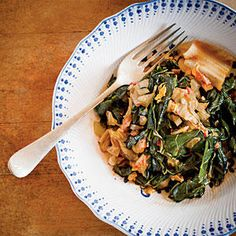 Collards and Kimchi - The Best Recipes of 2013 - Southernliving. Recipe: Collards and Kimchi  Edward Lee, chef and owner of 610 Magnolia (Louisville, KY), celebrates two humble ingredients, using sautéed country ham and onions to create a robust harmony of sweet, salty, sour, bitter, and umami flavors.