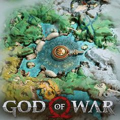 God of War - World Map Reel and Midgard, Ryan Baker Video Game Art, Video Games, Map Design, God Of War, Thor, Gaming, Universe, Comic, Pasta