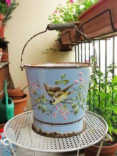 English royal doulton huge commode or chamber pot or slop - Pot de chambre antique ...