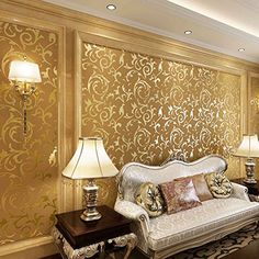 OurWarm Gold 10M Luxury Embossed Patten Textured Wallpaper Rolls Home Decoration OurWarm http://www.amazon.co.uk/dp/B00T2CLI7Q/ref=cm_sw_r_pi_dp_K-fJvb0RSE41E