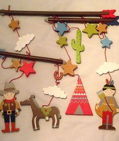 Gisela Graham Cowboys & Indians wooden Mobile £15.20
