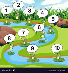 Kindergarten Math Worksheets, Preschool Learning Activities, Worksheets For Kids, Math For Kids, Games For Kids, Preschool Classroom Decor, Frog Theme, Kindergarten Centers, Drawing For Kids