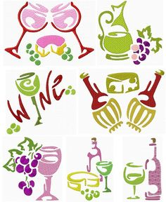 Wine Stencils  50 cent sale through 7-22, for 15 sets of designs