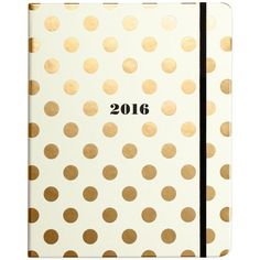 kate spade new york Gold Dots 17-Month Large Agenda ($36) ❤ liked on Polyvore featuring home, home decor, stationery, accessories, decor, other, books, filler and gold