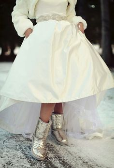 Winter Wedding Boots for the Bride