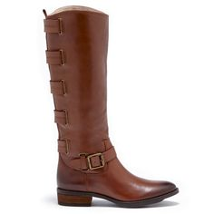 Women's Vintage Cognac Leather 1 1/4 Inch Leather Riding Boot | Franzie by Sole Society
