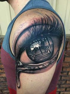 Reflecting Eye Tattoo