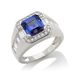Victoria Wieck Absolute™ Men's Simulated Tanzanite Ring