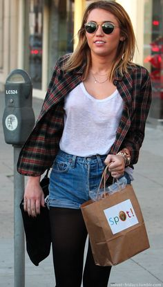 Trend Alert – Denim Cutoff Shorts With Tights! | Fashion Tag ...